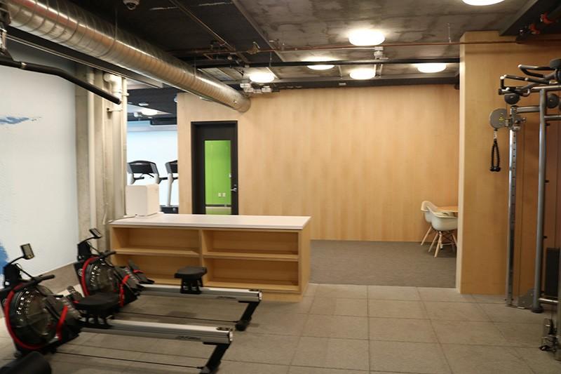 67. Mezzanine Level Gym